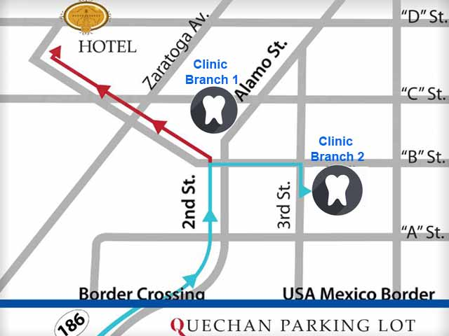 Directions to Clinic in Los Algodones