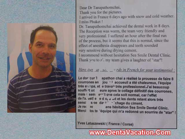 Yves' Dental Crown Review - Phuket - Thailand