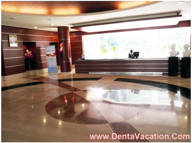 Interiors of Hospital for Dental Treatments in India