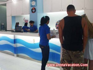 Reception area - dental clinic in Patong - Thailand