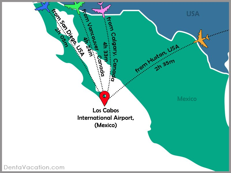 Flight Map | Dental Tourism in Cabo