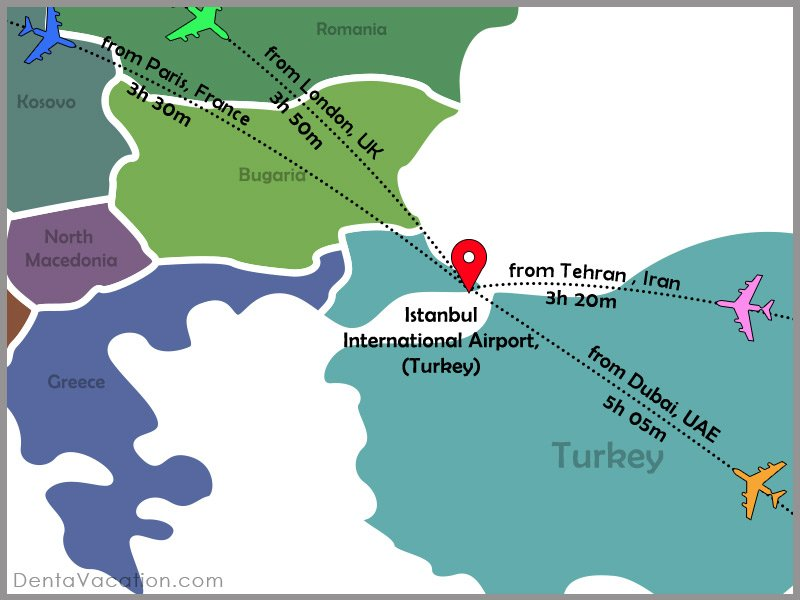 Flight Map | How to Reach Istanbul